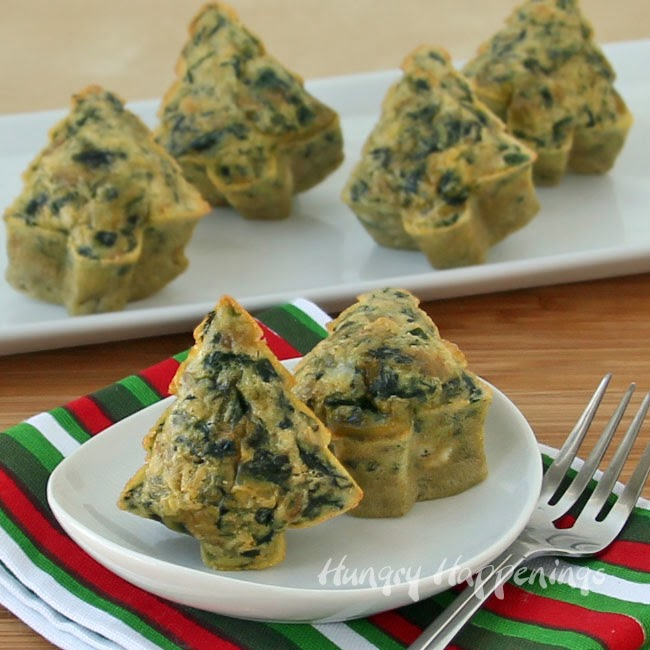 Festive Dish for Christmas Brunch - Spinach Artichoke Frittata Trees