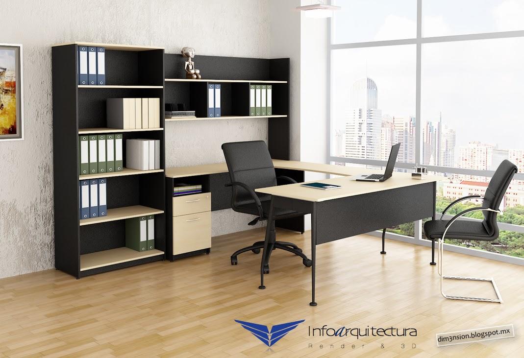 Oficina m dulo de escritorio infoarquitectura - Modulo diseno de interiores ...