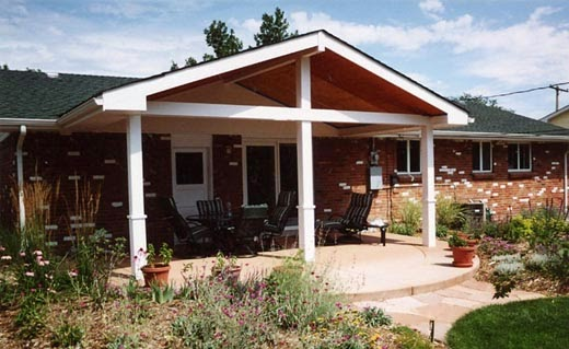 how to build covered patio roof