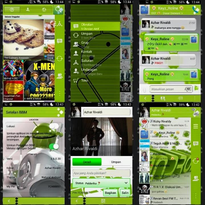 Download BBM Mod Tema Android Natural Apk v2.6.0.30 Terbaru