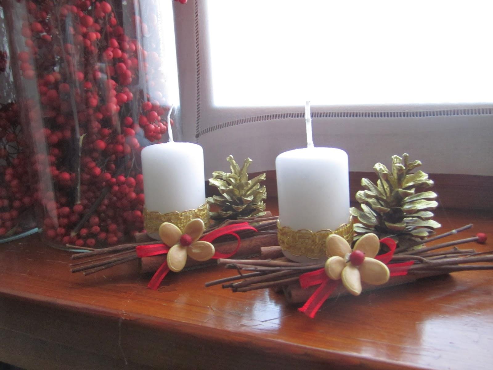 Stelledilatta candele di natale i - Decorare candele per natale ...