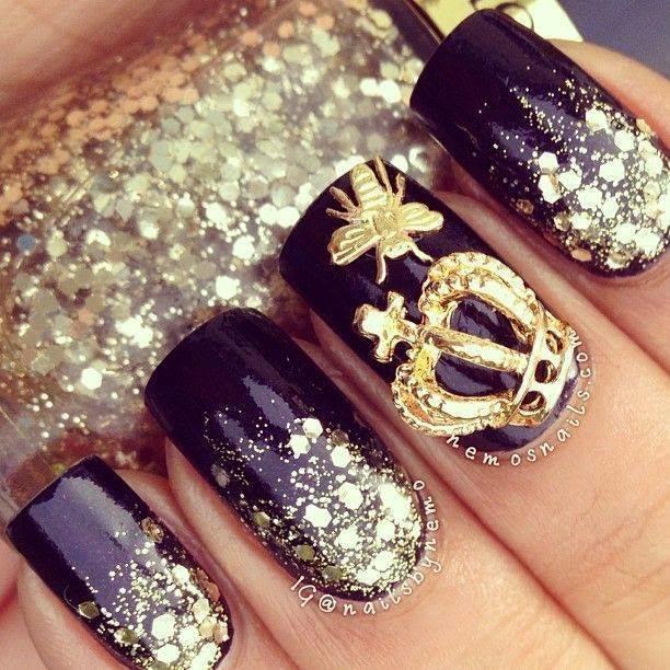 Black Nails Designs