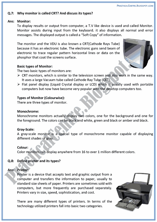 input-output-devices-descriptive-questions-answers-computer-ix
