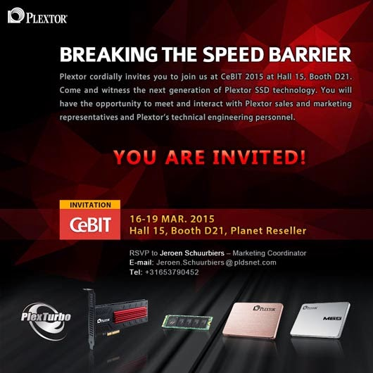 Plextor SSD Solutions at CEBIT 2015