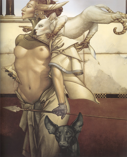 Stalking, Micheal Parkes,Surrealism