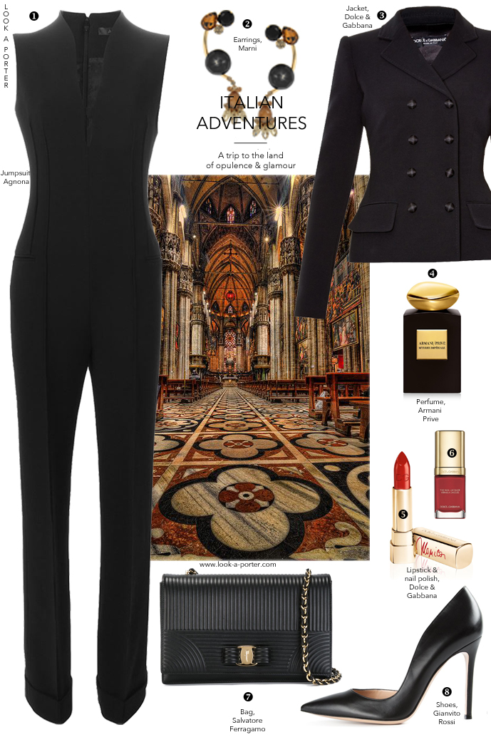 Parisian style created with Agnona, Dolce & Gabbana, Gianvito Rossi, Salvatore Ferragamo, Armani & Marni. Via www.look-a-porter.com style and fashion outfit inspiration delivered daily
