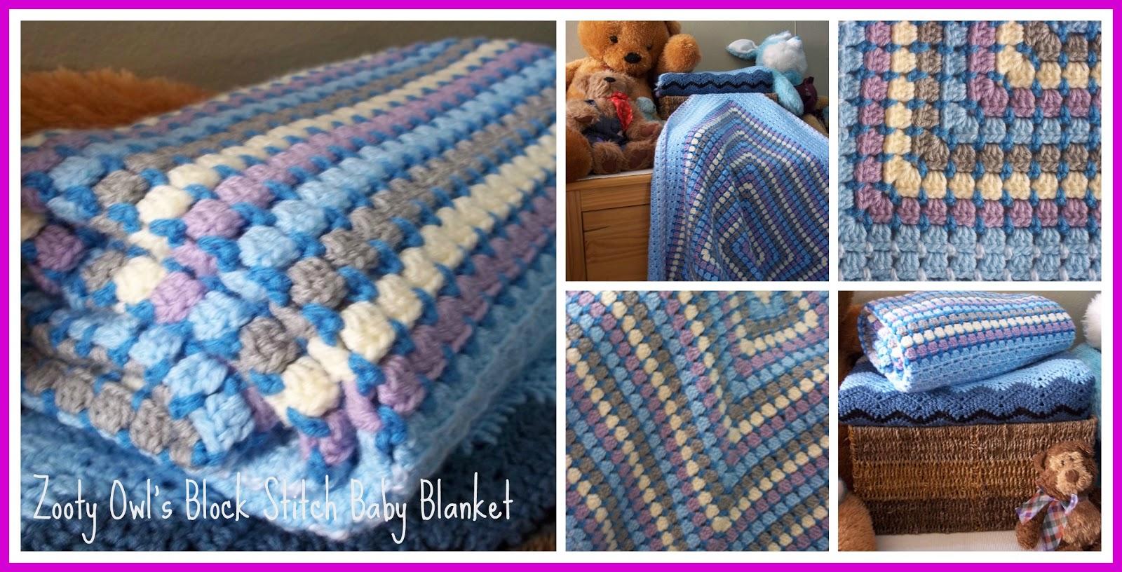 Zooty Owl\'s Crafty Blog: Block Stitch Baby Blanket