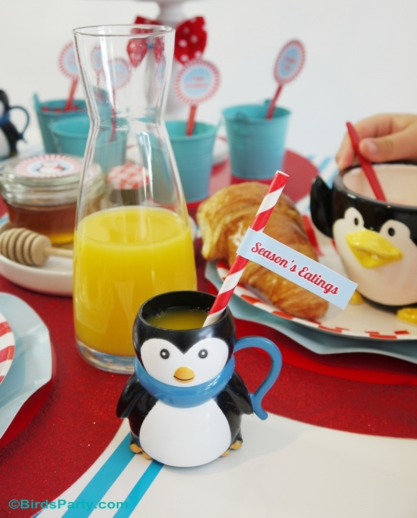 north pole christmas breakfast table ideas with free printables birdspartycom