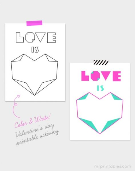 VALENTINES DAY ACTIVITIES KIDS PRINTABLE – VALENTINES DAY PRINTABLES ...
