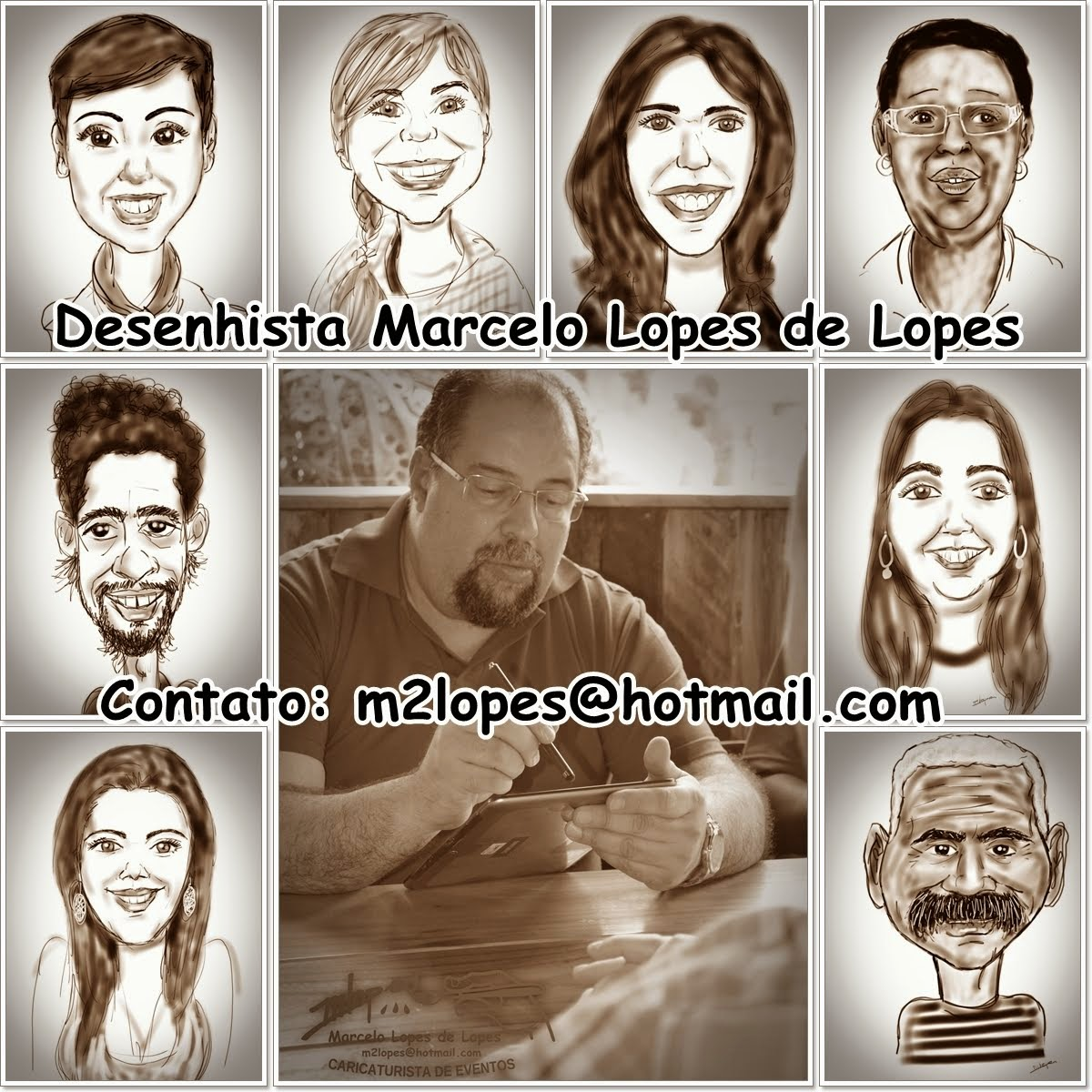 Caricaturas direto no tablet