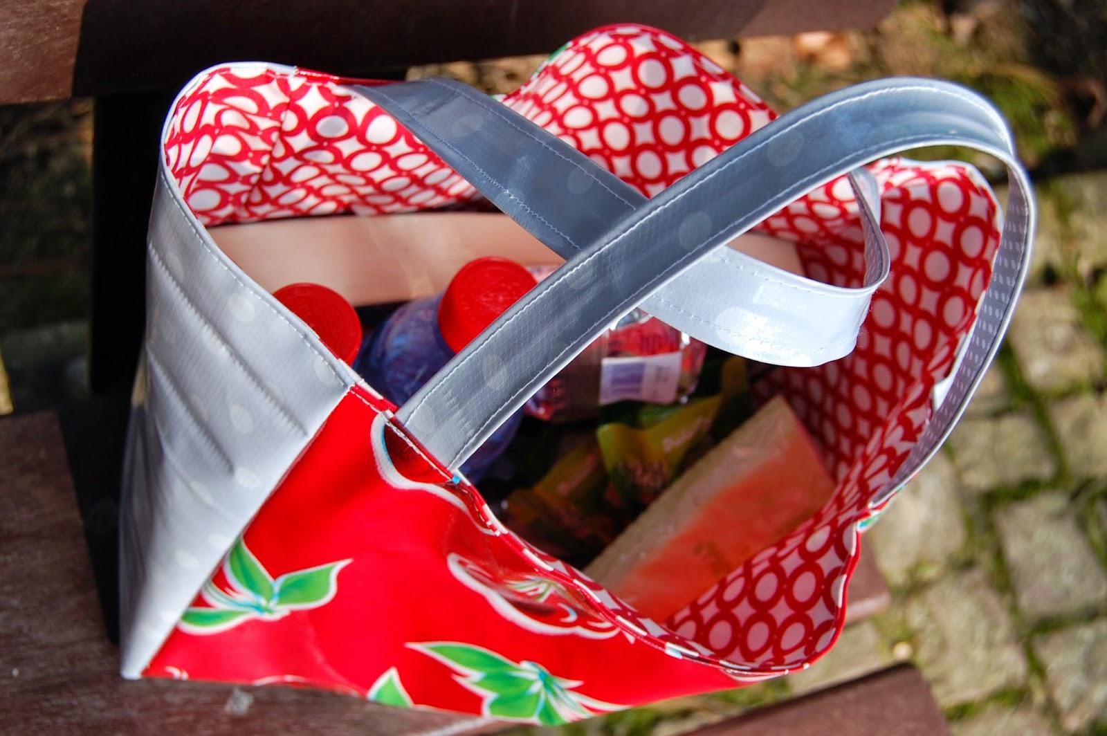 Lunch bag fait-maison en toile enduite