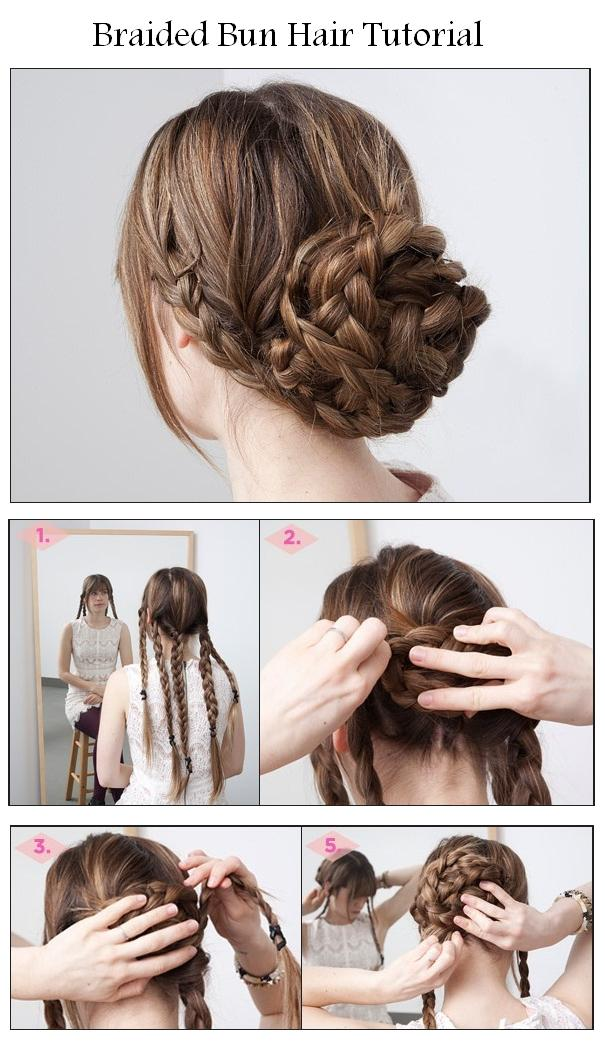 Hairstyles Tips And Tutorial Make A Braided Bun For Your Hair