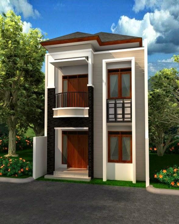 desan rumah berlantai 2 modern desain properti indonesia