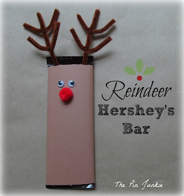 Christmas reindeer Hershey bar