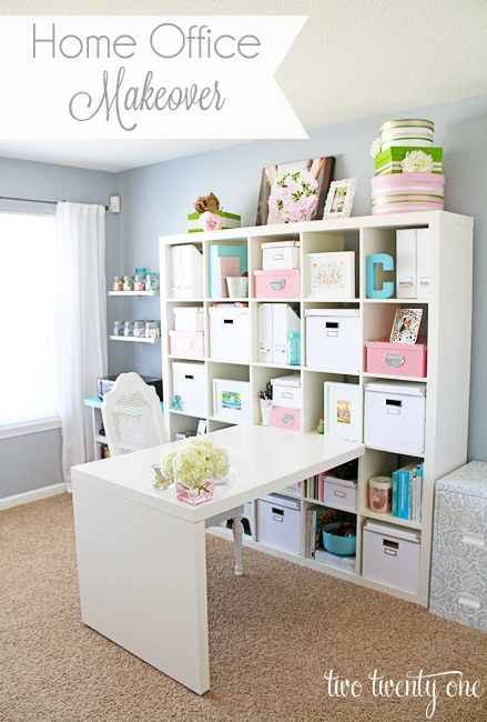 Our Little Life Home Office Scrapbook Room Idea