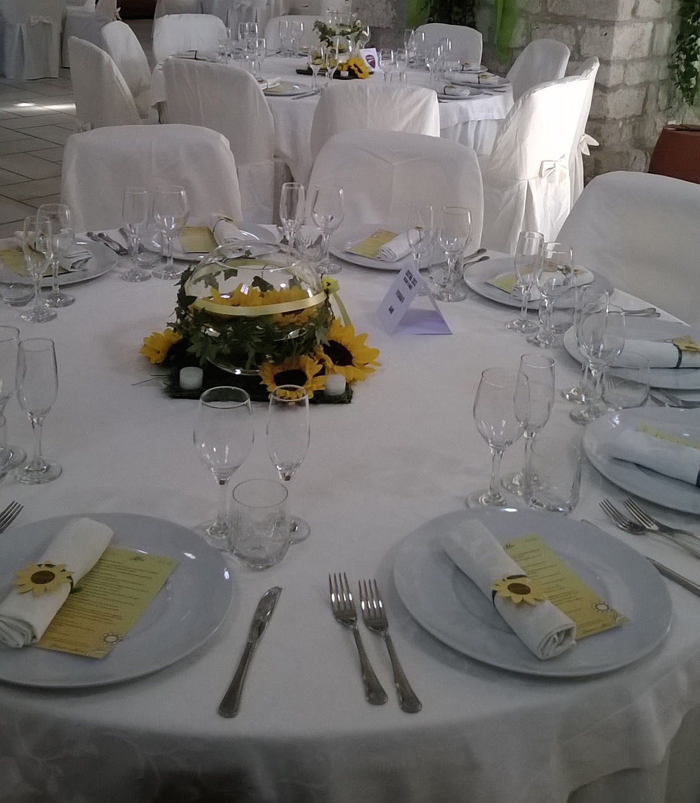 Wedding in the city novembre 2015 - Centrotavola girasoli ...