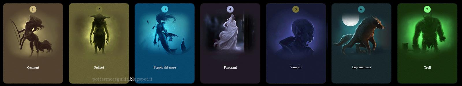 Domanda 7: Quale delle seguenti creature ti piacerebbe di più studiare?