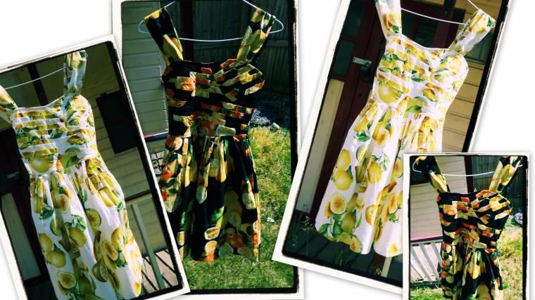 Frock it #4 Blog Hop:Orange And Lemons Dresses