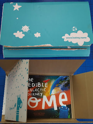 The Incredible Intergalactic Journey Home Personalised Book packaging