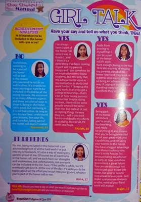 Total Girl Magazine, Girltalk, June 2014