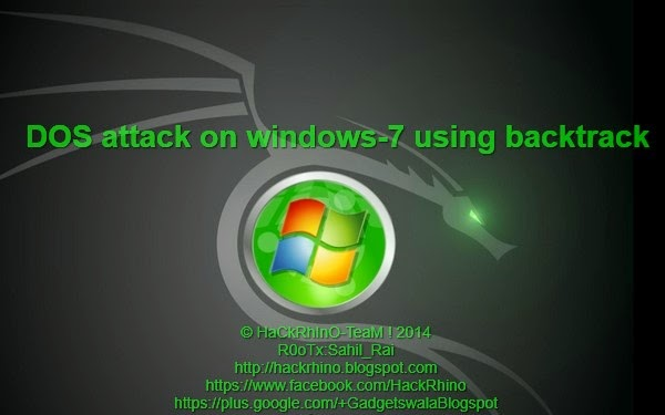 dos windows 7