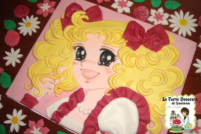 Le torte decorate cialda candy candy in 2d e decorazioni for Decorazioni torte 2d