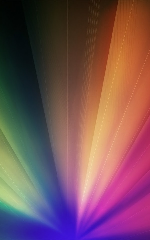 Multicolored Rays Of Light Rainbow  Galaxy Note HD Wallpaper