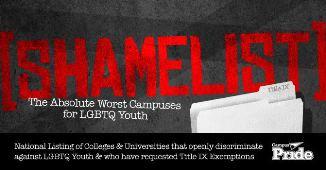 """Homosexualii americani lansează """"lista ruşinii"""" cu universităţile creştine"""