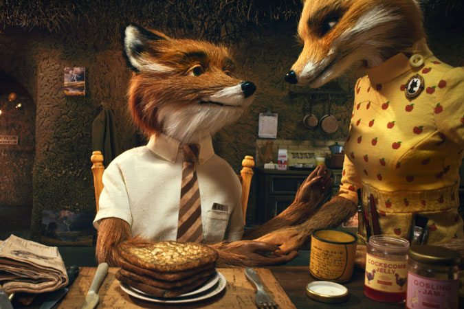 Mr. and Mrs. Fox in Fantastic Mr. Fox animatedfilmreviews.filminspector.com