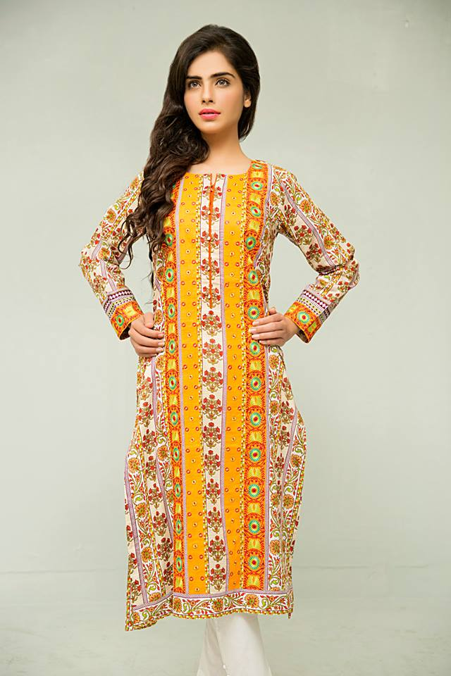 latest eid kurti designs by bonanza for pakistani girls