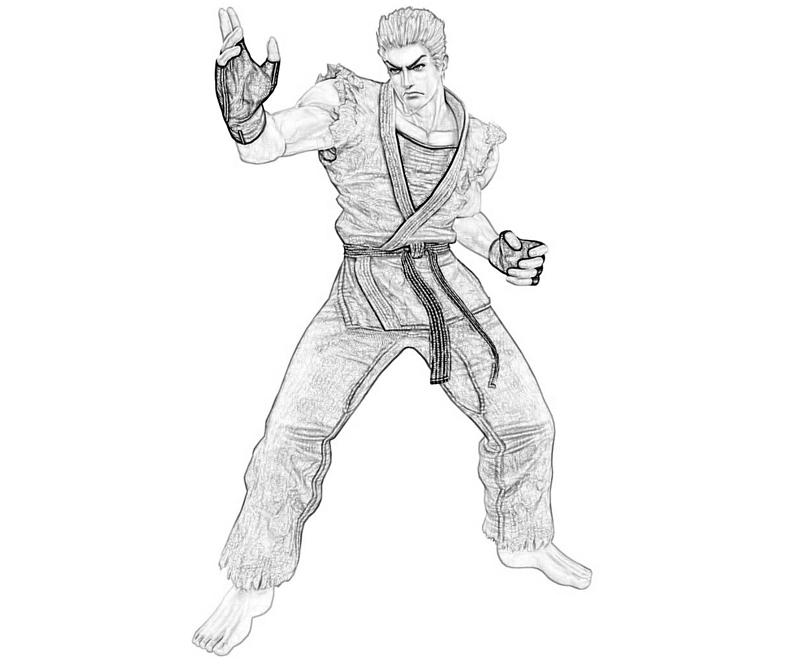 king-of-fighters-ryo-sakazaki-skill-coloring-pages