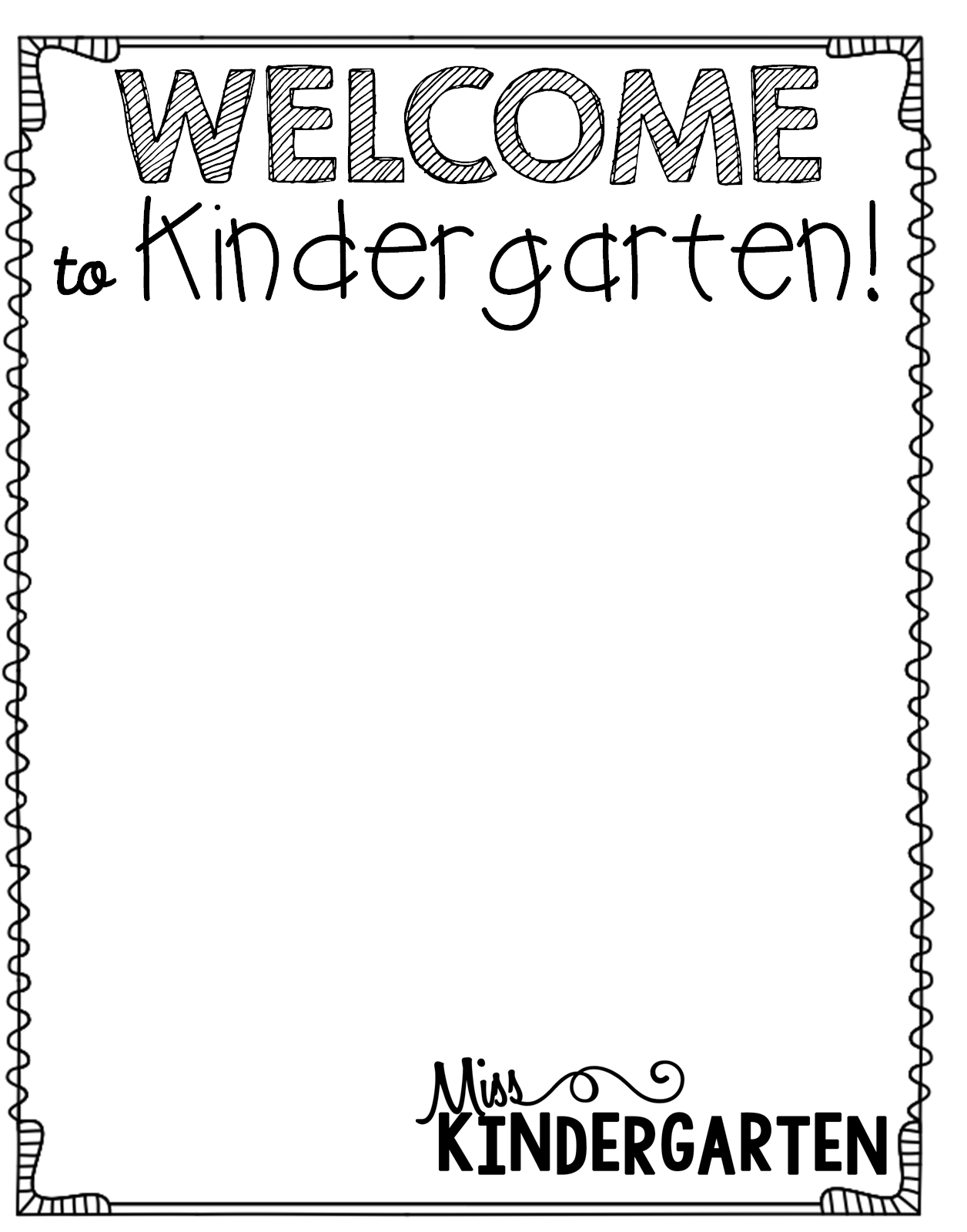 Welcome to Kindergarten {editable template}