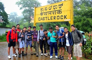 Bangalore Hikers team at Castlerock