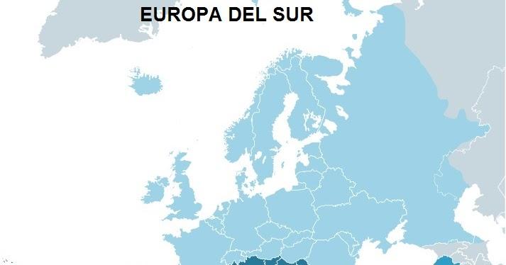 EUROPA DEL SUR  MAPAS DE
