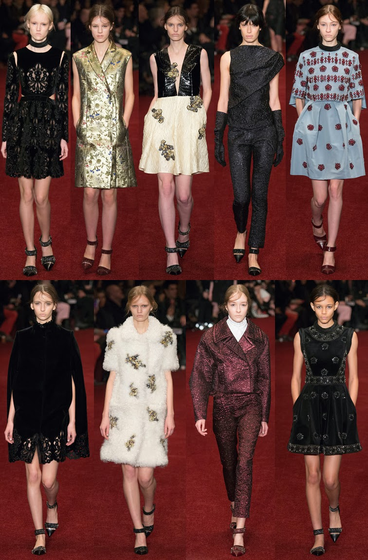 Erdem fall winter 2014 runway collection, AW14, FW14, LFW, London fashion week
