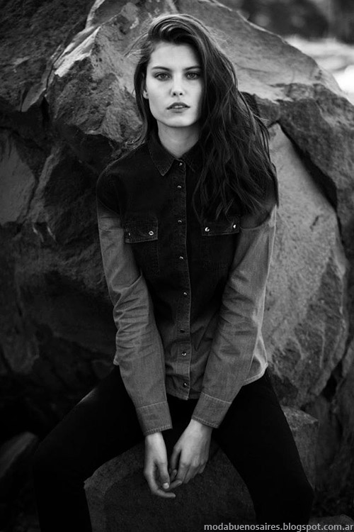 Camisas de jeans Koxis otoño invierno 2015. Moda otoño invierno 2015.