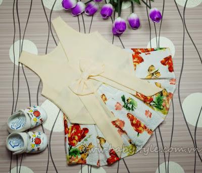 Áo Chân Váy màu Kem