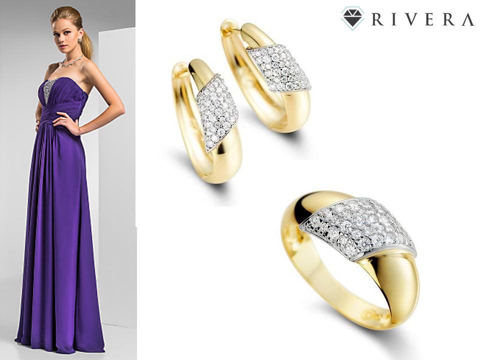 anel dourado com prata