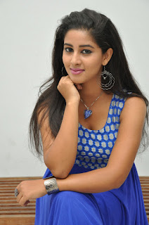 Pavani looks cute in Deep Neck Tank Top and Blue Skirt Stunning Beauty at OMG Audio