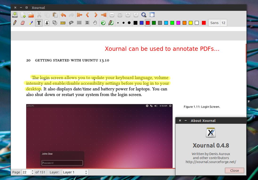 Xournal 0.4.8