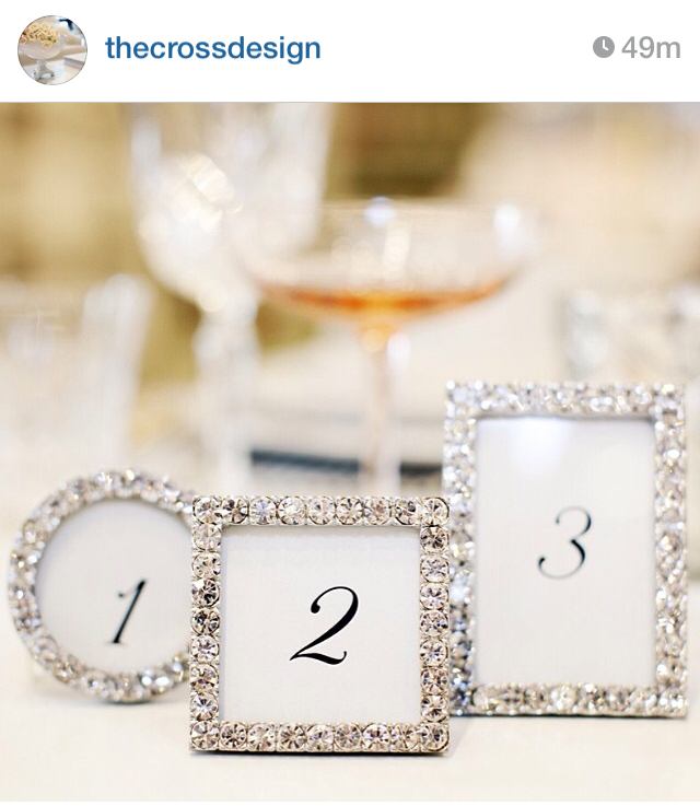 glitter picture frame table numbers