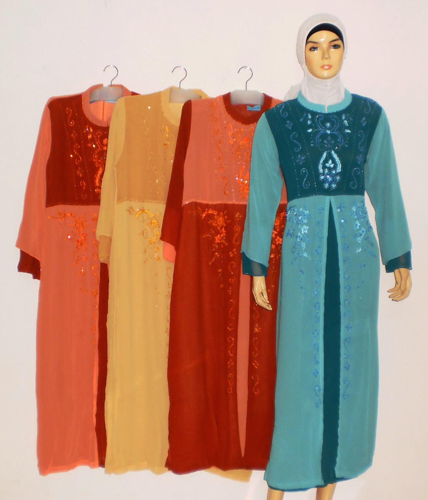 Gamis Payet Murah Gp038c Grosir Baju Muslim Murah Tanah
