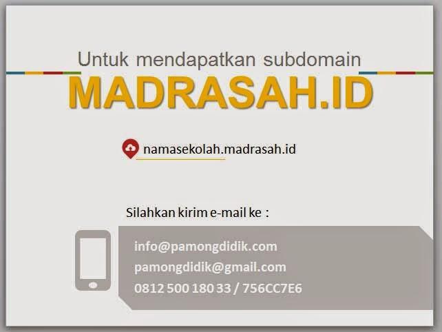Free sub domain Madrasah.id