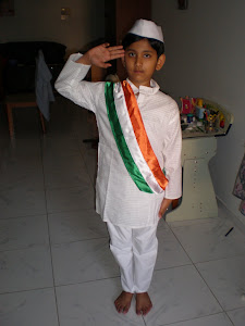 Arun Salutes the flag