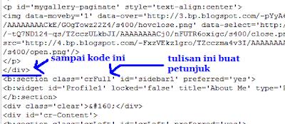 Petunjuk akhir menghapus kode slideshow
