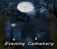 Evening Cemetery digital fantasy backgrounds, fantasy backgrounds, cemetery, gothic cemetery digital backdrops