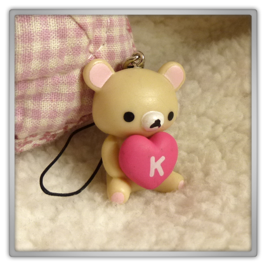 Blippo haul review shoplog Korilakkuma rilakkuma mobile charm model 3 heart 2 kawayy