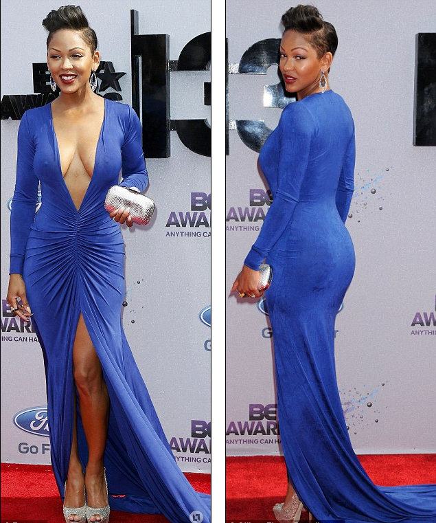 Meagan Good dress showing ass and cleavage