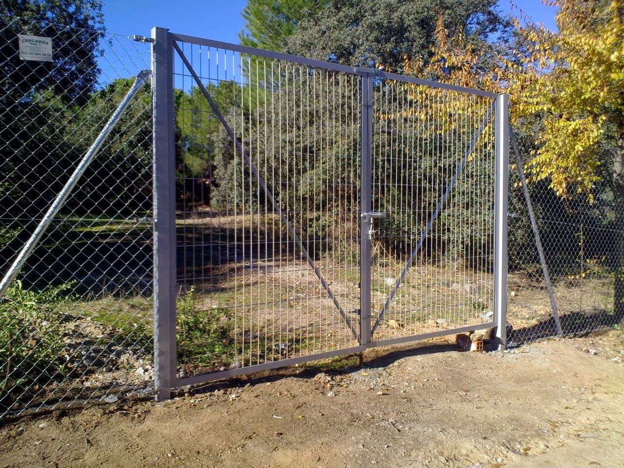 Cercados gp puertas vehiculos - Vallas para parcelas ...