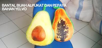 bantal buah pepaya alpukat